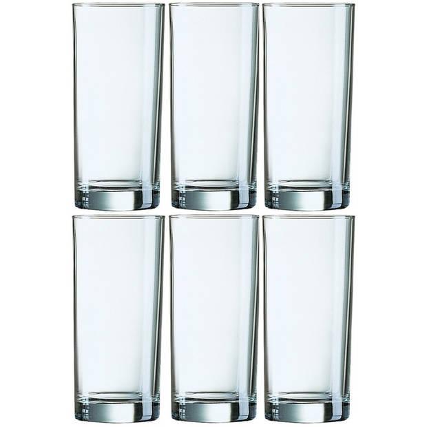 6x Longdrinkglazen 310 ml - 31 cl - Longdrink glazen - Water/sapglazen - Longdrink glazen van glas