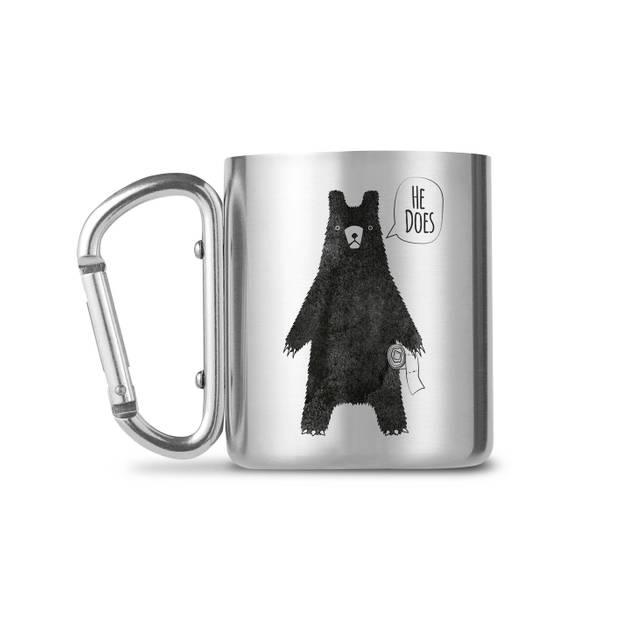 GB Eye mok Does a bear crap in the woods? zilver/zwart 250 ml