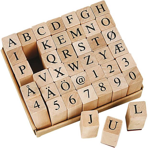 Creotime stempelset alfabet 13 x 13 x 8 mm 42-delig