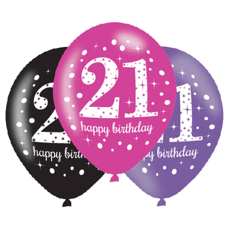 Korting Amscan Ballonnen 21 Pink Celebration 27,5 Cm 6 Stuks