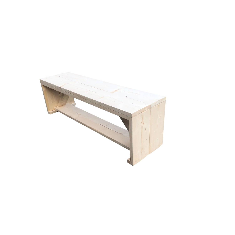 Wood4you - Tuinbank Nick Vurenhout 140lx43hx38d Cm