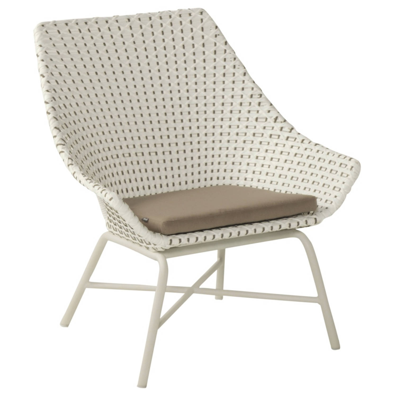 Hartman Delphine Lounge tuinstoel wit