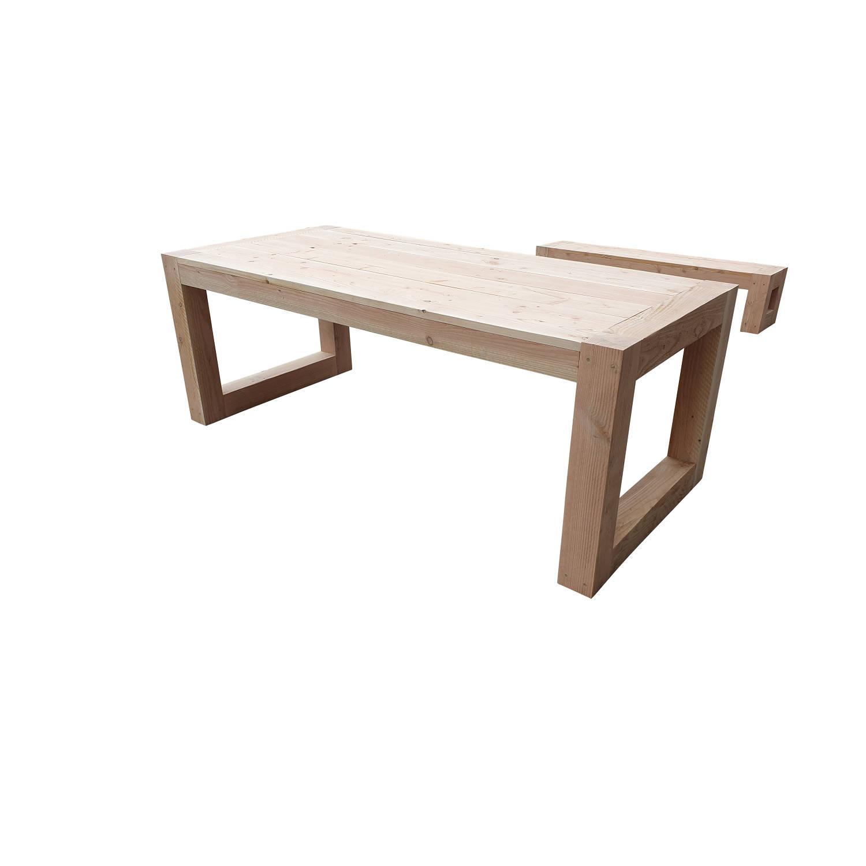 Wood4you - Tuintafel Boston 150lx78hx90d Cm