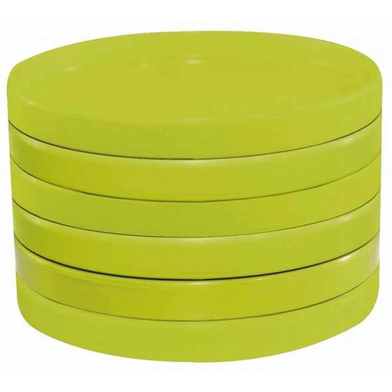 Image of Zak!designs Party Onderzetters Voor Glas Set Van 6. Lime Groen Limited Edition 10 Year Ttp
