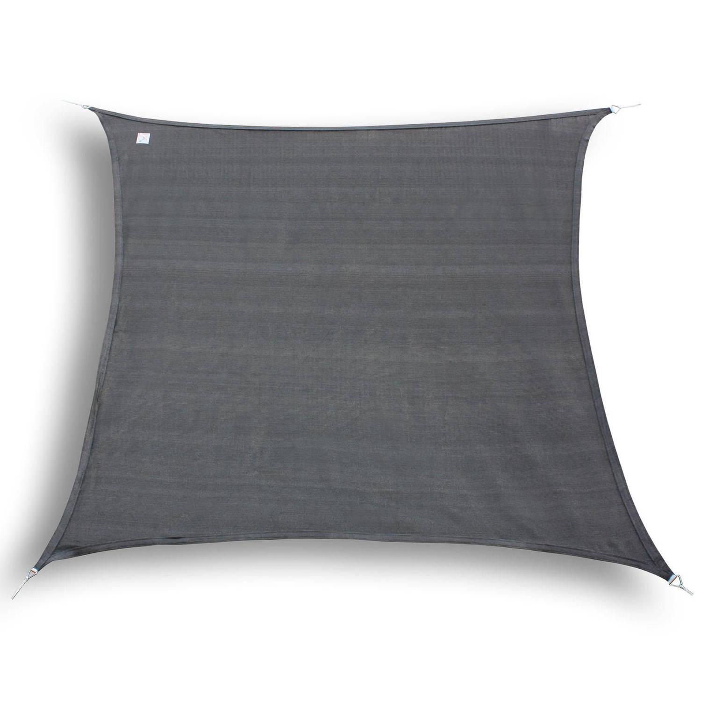 Hanse® vierkant waterdoorlatend schaduwdoek 2x2 m Grijs