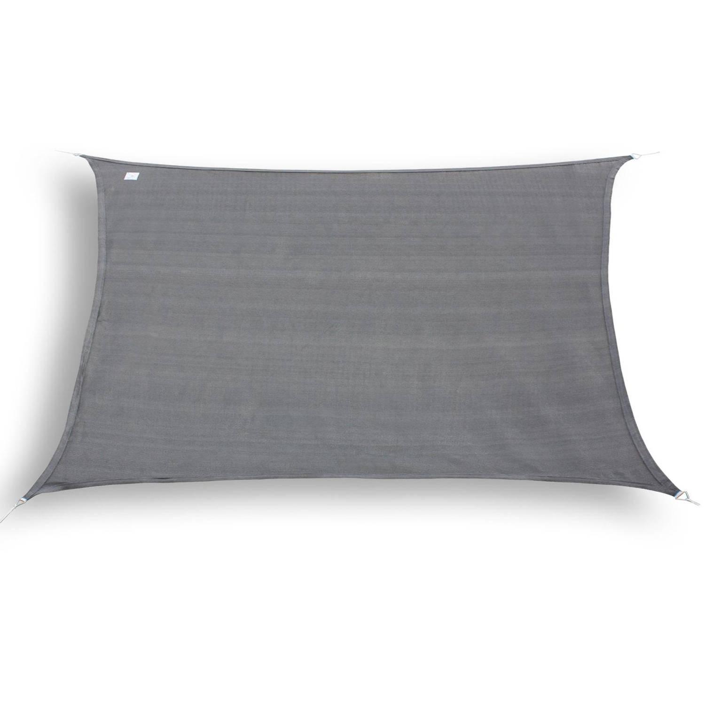 Hanse® rechthoekig waterdoorlatend schaduwdoek 2X4 m Grijs