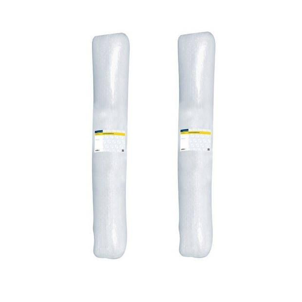 2x Noppenfolie/bubbeltjesfolie op rol 5 meter x 120 cm - Luchtkussenfolie - Bubbelfolie/bubbeltjesplastic verhuisspullen