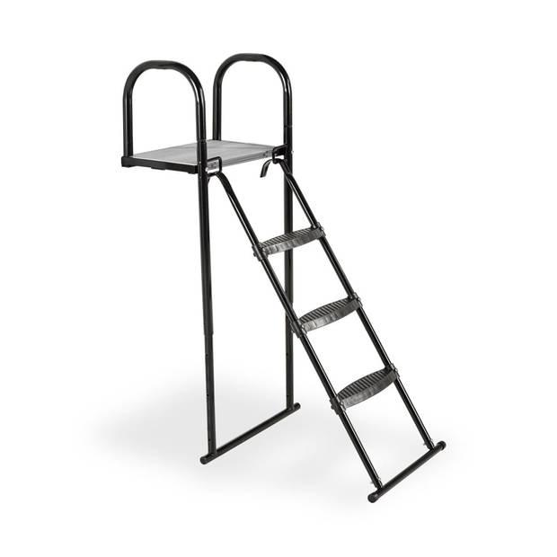 Trampoline platform met ladder - EXIT - 116 x 41 cm (maat XL)