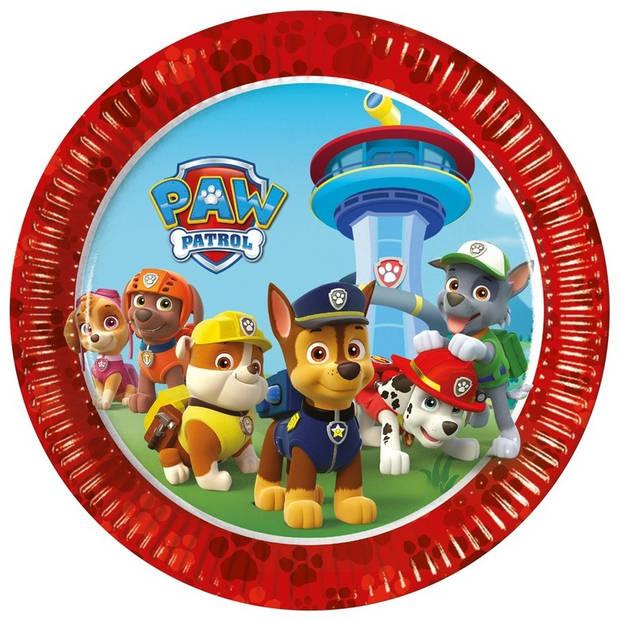 Paw Patrol feest bordjes - 16 stuks - wegwerpbordjes