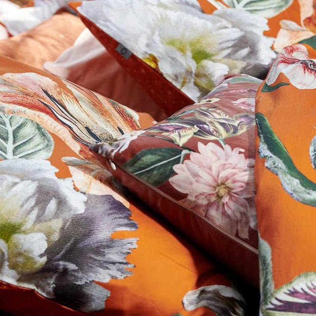 Essenza Filou dekbedovertrek - Lits-jumeaux (240x200/220 cm + 2 slopen) - Katoen satijn - Caramel