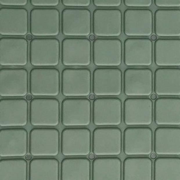 Donker groene antislip mat voor douchecabine 55 cm - Douchematten/badmatten - Badkamer accessoires matten