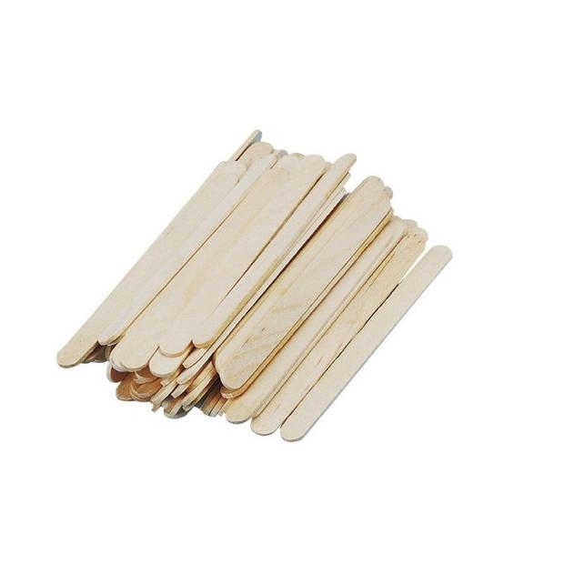 300x naturel ijsstokjes knutselhoutjes 5,5 cm - knutselstokjes - hobby houtjes artikelen