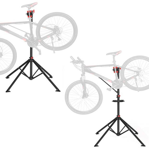 Fiets Montagestandaard - 360° draaibaar - In Hoogte verstelbaar +