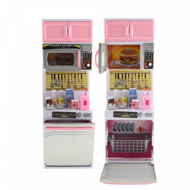 Toi-Toys keuken met magnetron voor pop met licht en geluid