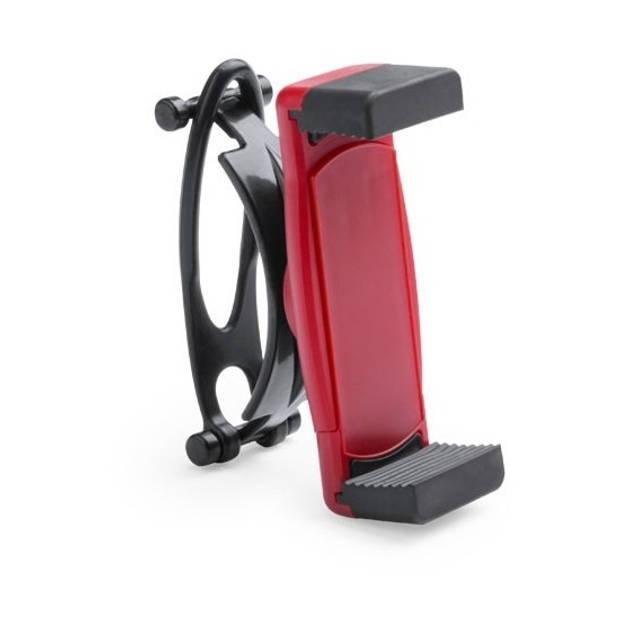 Smartphone houder / telefoonhouder universeel voor fiets / kinderwagen / hometrainer - Rood