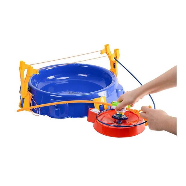 Infinity Nado arena Super Whisker met Nadotol 43 cm blauw/rood