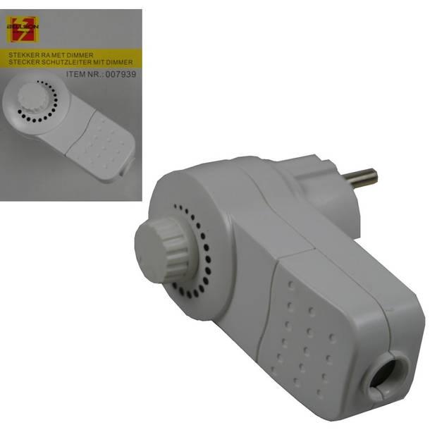 Stekker met ingebouwde dimmer 10 x 8 cm - stekkerdimmers / stopcontacten