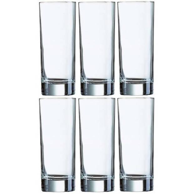 6x Longdrinkglazen 330 ml - 33 cl - Longdrink glazen - Water/sapglazen - Longdrink glazen van glas