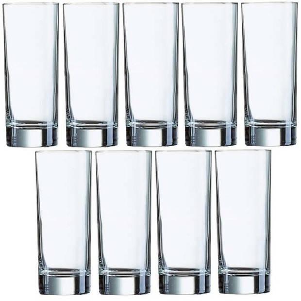 9x Longdrinkglazen 330 ml - 33 cl - Longdrink glazen - Water/sapglazen - Longdrink glazen van glas