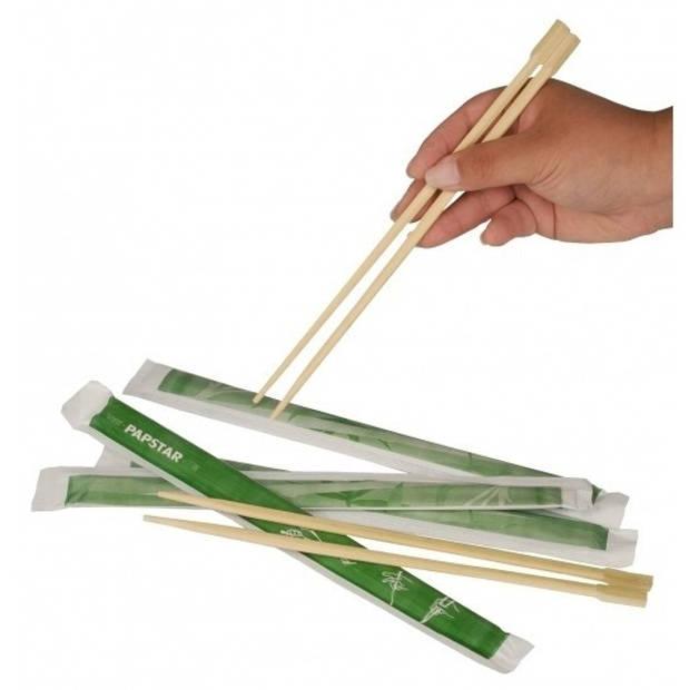 4 paar Eetstokjes van bamboe hout 2 stuks