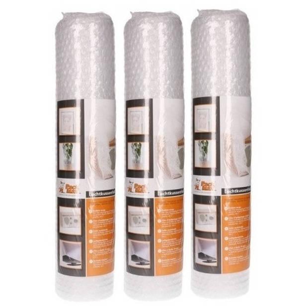 3x Noppenfolie/bubbeltjesfolie op rol 5 meter x 50 cm - Bubbelfolie/bubbeltjesplastic