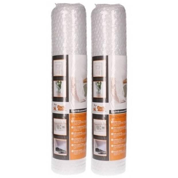 2x Noppenfolie/bubbeltjesfolie op rol 5 meter x 50 cm - Bubbelfolie/bubbeltjesplastic