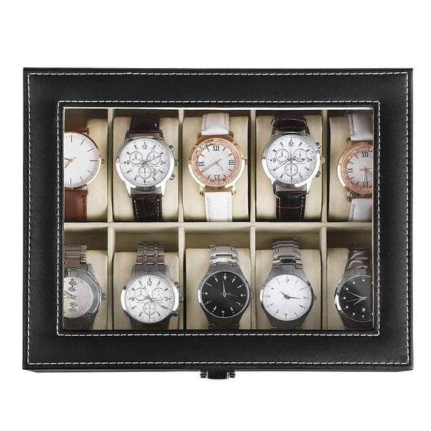 Luxe horlogebox voor 10 horloges - Heren en Dames horloge box
