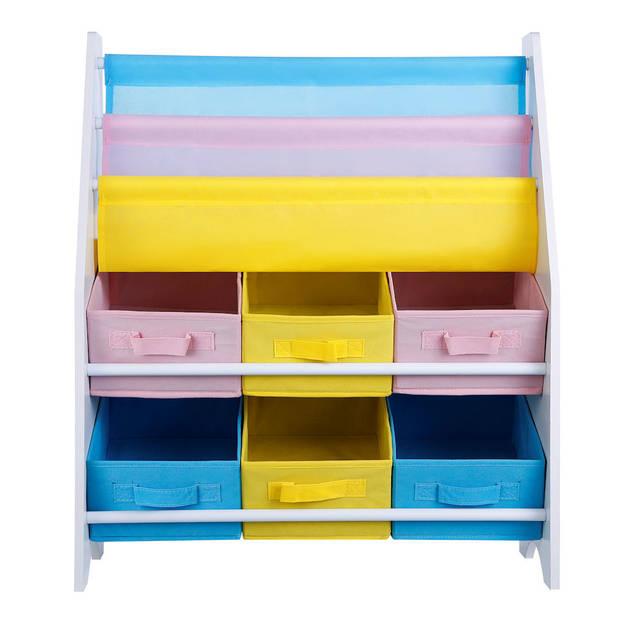 Opbergkast kinderen en boekenkast in 1 - Opbergrek voor opbergen