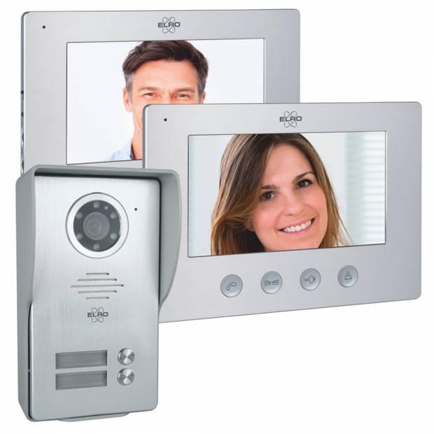 ELRO DV477W2 Video Deur Intercom - 2 Appartementen - Met 2x 7 inch kleurenscherm