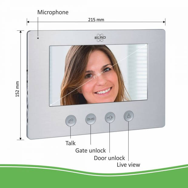 """ELRO DV477W Video Deur Intercom - 7"""" Kleurenscherm - Camera met nachtzicht"""