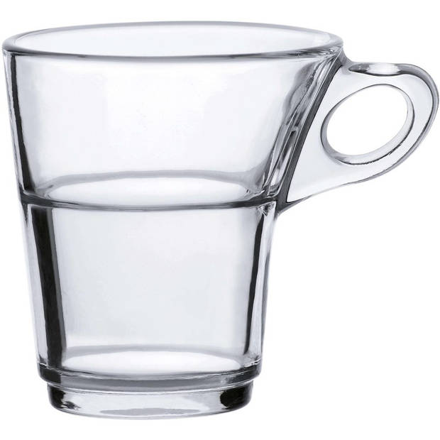 6x Espresso glazen Caprice transparant 90 ml - Koffie/espresso kopjes van glas