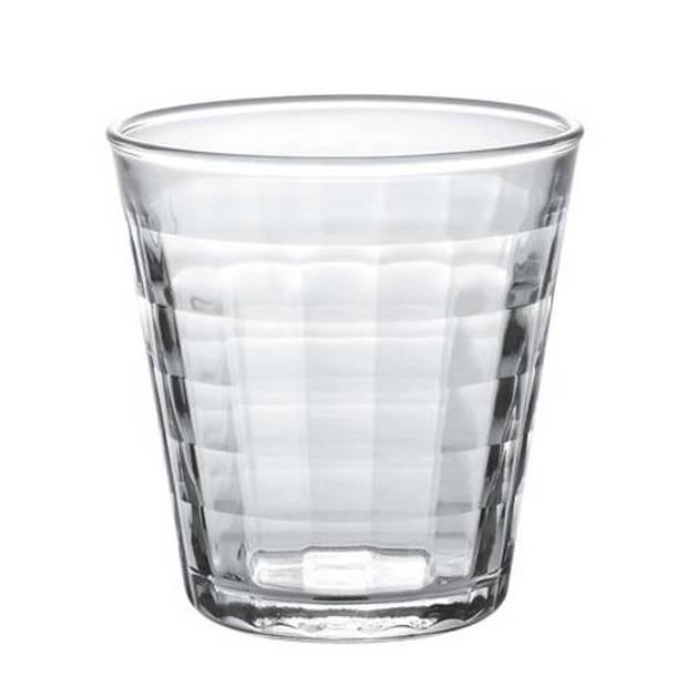 6x koffie/espresso glazen Prisme transparant 170 ml - Espresso glazen van glas 170 ml