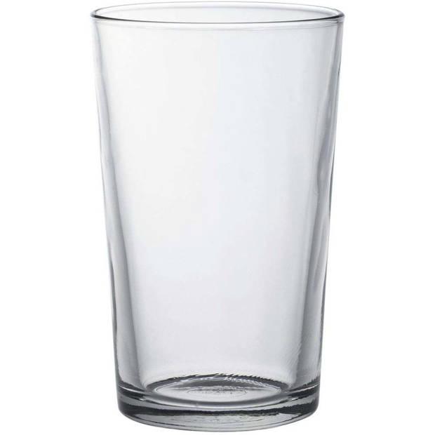 6x Drinkglazen/waterglazen Chope transparant 330 ml - Koffie/thee glazen Chope 330 ml