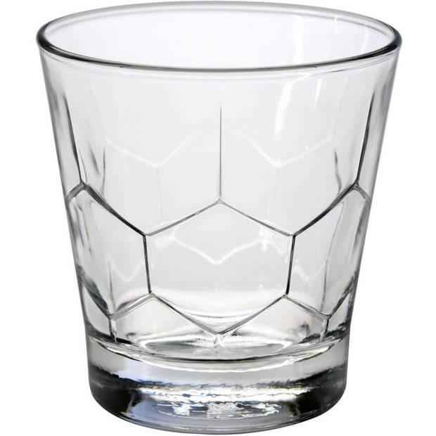 6x Drinkglazen/waterglazen Edinburgh transparant 260 ml - Koffie/thee glazen Edinburgh 260 ml