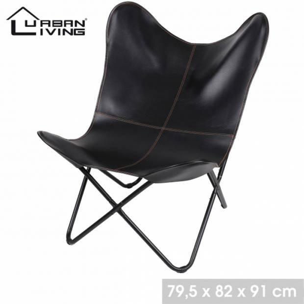 Urban Living Vlinderstoel Klassiek design - Zwart
