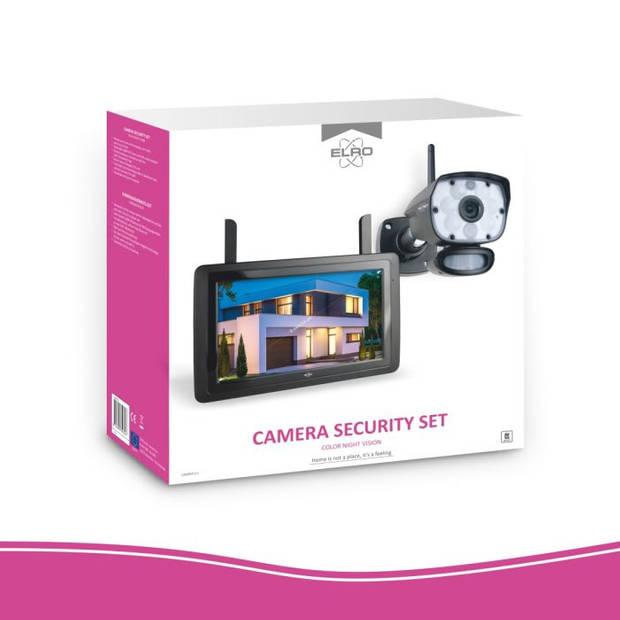 ELRO CZ60RIPS Draadloze 1080P HD Beveiligingscamera Set - Met 9 inch monitor en App