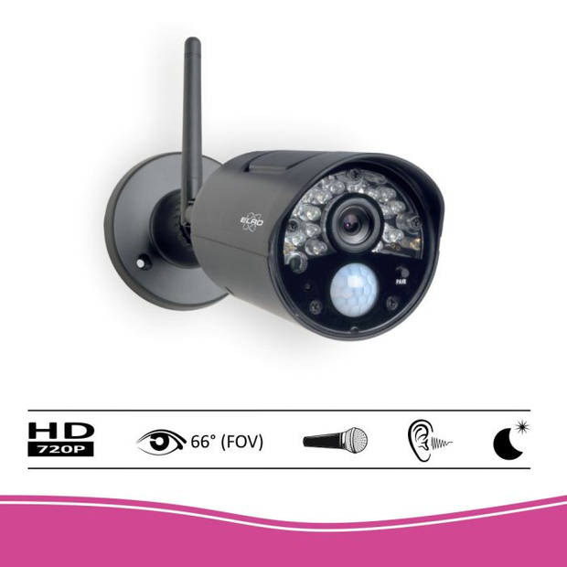 "ELRO CZ30RIPS Draadloze HD Beveiligingscamera Set - 7"" Monitor en App"