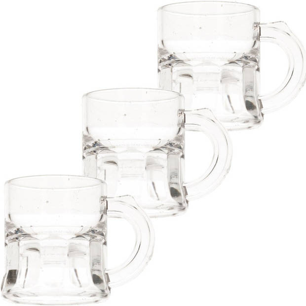 25x Shotglas/shotjes bierpul glaasjes/glazen met handvat 2cl - Oktoberfest/kroeg/bar/cafe shot/shotjes glazen