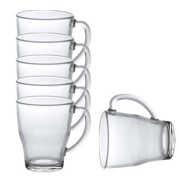 6x Theeglazen/koffieglazen Cosy transparant 350 ml