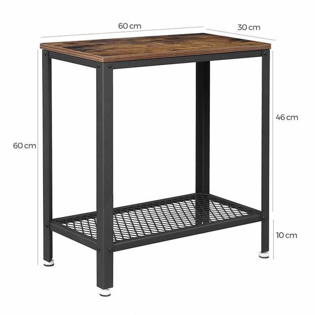 Wandtafel - haltafel hout met metaal - robuust en industrieel - 60x30x60cm