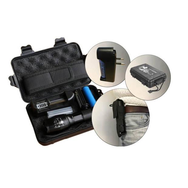 Waterdichte LED zaklamp - Oplaadbare batterij