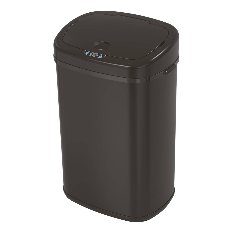 4cookz® Clever Square Black 58 Liter Sensor Prullenbak - 29x40x68cm