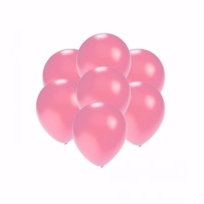 Korting Kleine Metallic Roze Ballonnen 15 Stuks