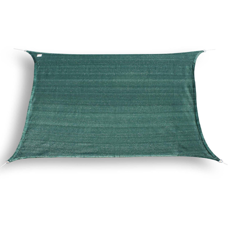 Hanse® rechthoekig waterdoorlatend schaduwdoek 2X4 m Groen