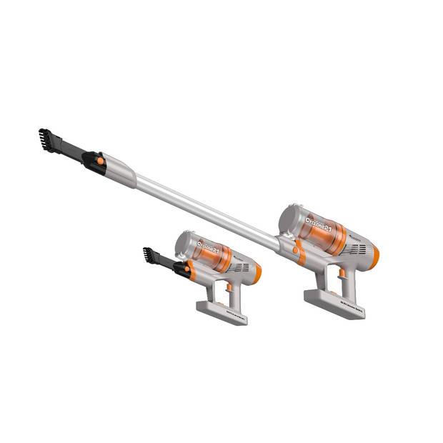 TurboTronic TT-C21 Steelstofzuiger - UNIEK : Extreem hoge zuigkracht - Zilver