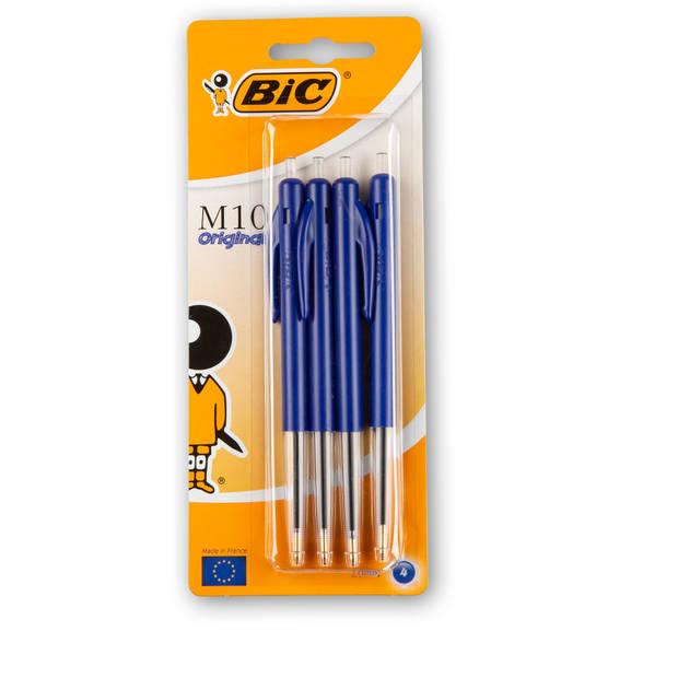 Bic M10 Balpen Blauw Blister 4