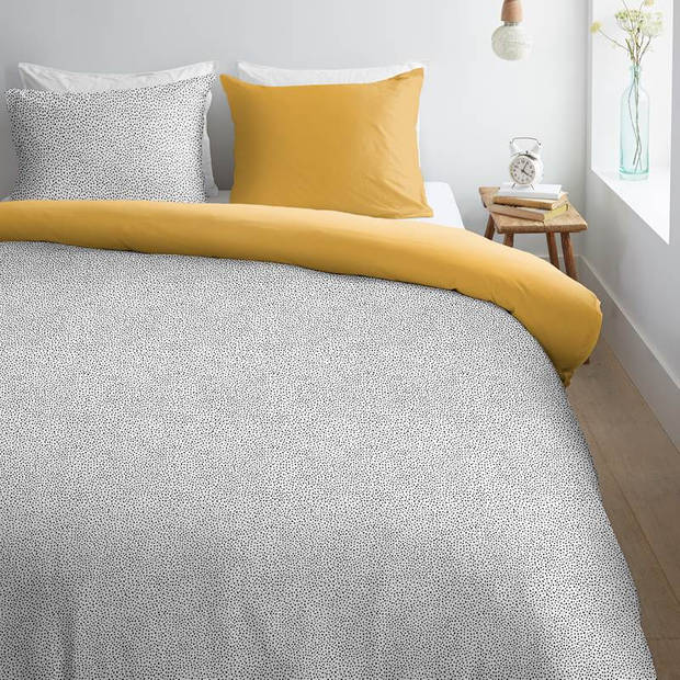Ambiante Luella dekbedovertrek - Lits-jumeaux (240x200/220 cm + 2 slopen) - Katoen - Black White