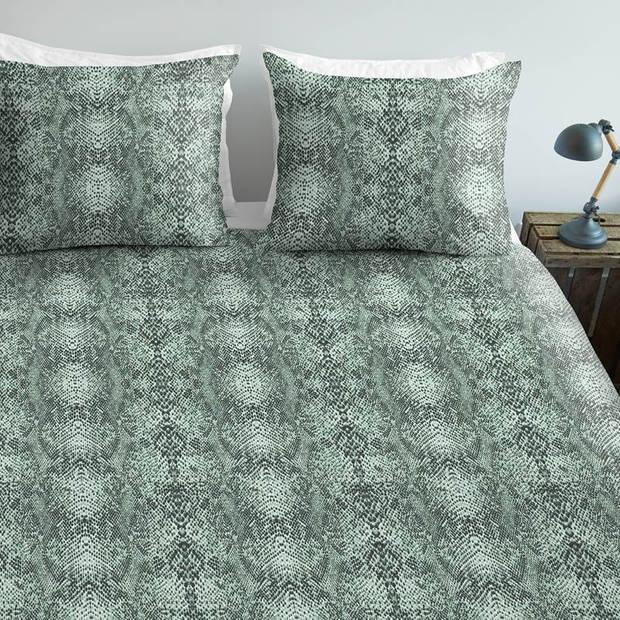 Ambiante Ruya dekbedovertrek - Lits-jumeaux (240x200/220 cm + 2 slopen) - Katoen - Green