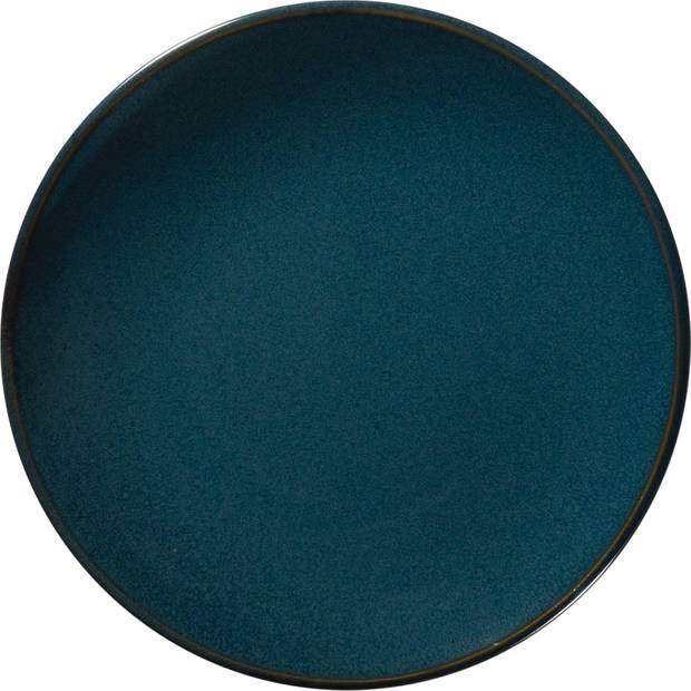 Blokker ontbijtbord Moskou 20cm blauw