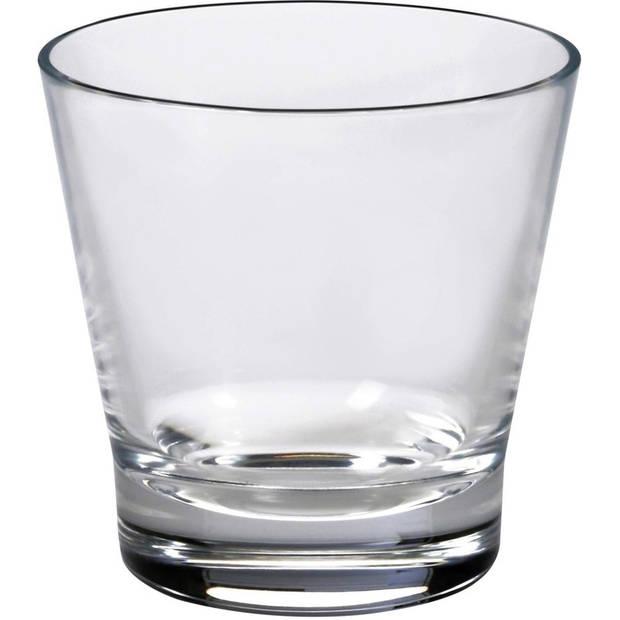 18x Drinkglazen/waterglazen Aberdeen transparant 210 ml - Koffie/thee glazen Aberdeen 210 ml